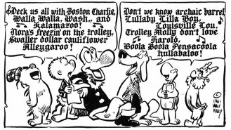 Walt Kelly's Pogo characters and 'Deck Us All With Boston Charlie.' (1961)