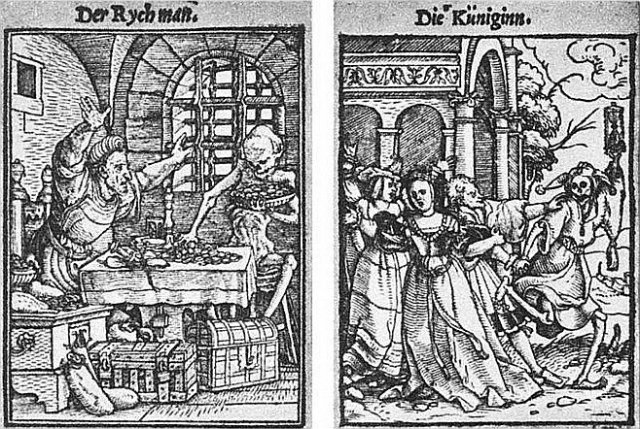 Hans Holbein's 'Dance of Death' woodcuts. XI, The Queen