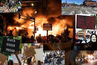 George Floyd riots collage. (2020)