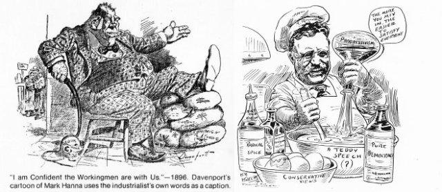 Political cartoons. (1896, 1912)