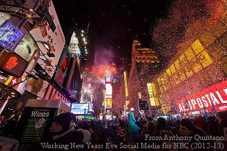 Quintano Media's photo of New York City's Times Square New Year's Eve celebration. (2020)