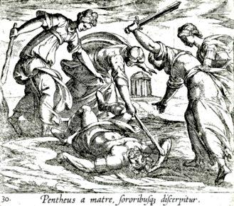 Antonio Tempesta's 'The Death of Pentheus.' (ca. 1606)