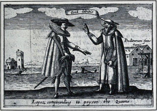 Roderigo Lopez, as imagined by Friedrich van Hulsen. (1627)