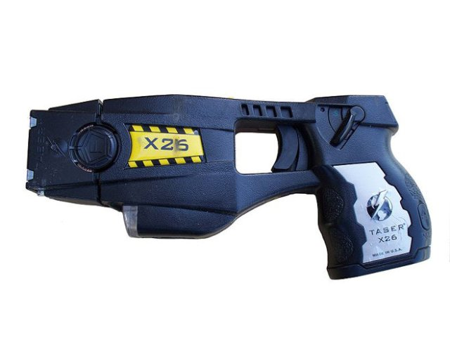 Police issue X26 TASER. Not a Glock.