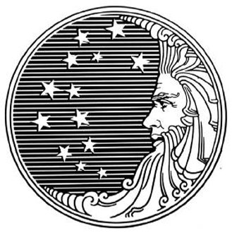 Proctor and Gamble's pre-1980s logo, before the Revelation 12:1 'satanic' rumors.