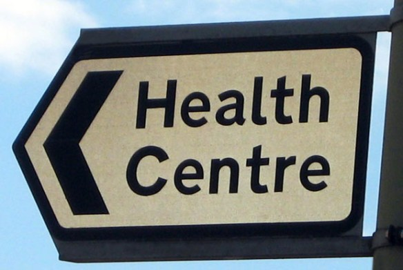 Health centre sign