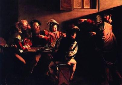La vocación de Mateo Caravaggio San Luis de los Franceses Roma