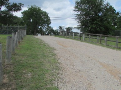 Entrance drive down to park