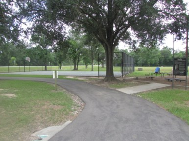 Paved Trail goes around the park