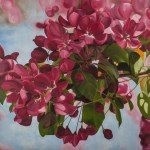 """Blooming"" Brenda Stonehouse 24"" x 24"" oil on canvas. Available for purchase."