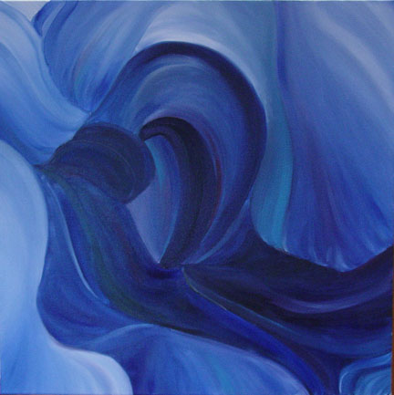 """""""Heart of the Iris"""" Brenda Stonehouse 24"""" x 24"""" oil on canvas. Available for purchase."""
