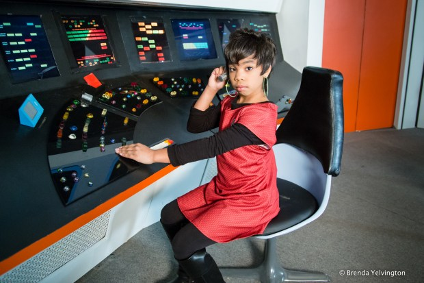 Lt. Uhura on set