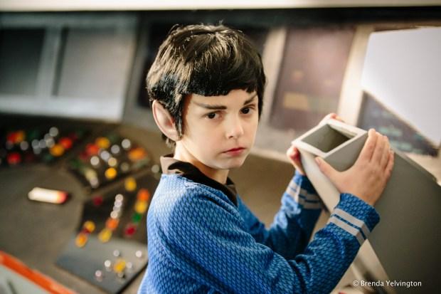 Spock on set