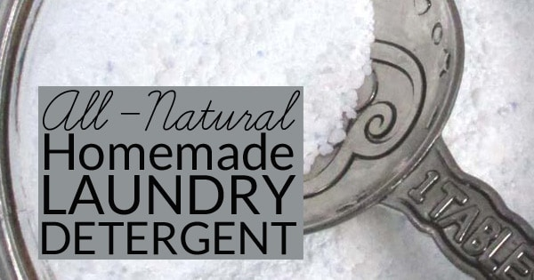 Natural Homemade Laundry Detergent is easy to make and budget friendly. This powdered detergent is non-toxic , contains no borax, and works in HE laundry machines. Makes 320 loads for only $20.