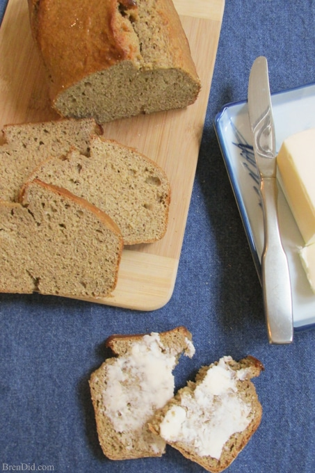 BrenDid Best Banana Bread ! There's no oil, less sugar and whole wheat flour in this delicious recipe .