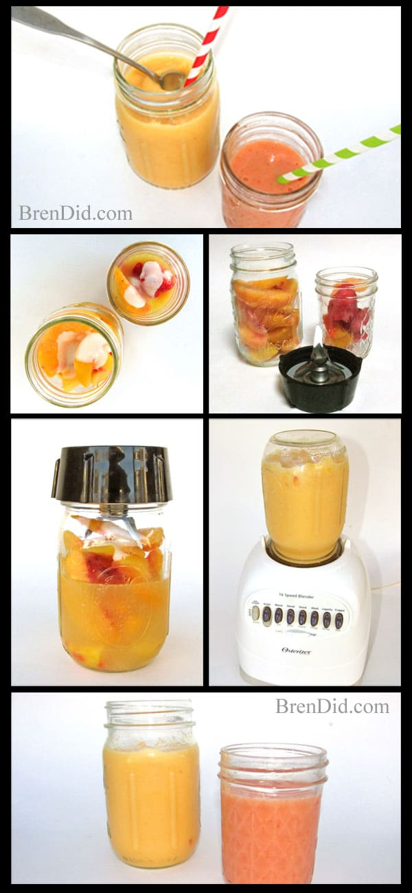 BrenDid-Smoothie-Collage: how to make a smoothie, the easy way, no blender