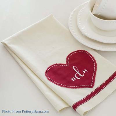 "Saying ""I love you!"" doesn't have to cost a bundle this Valentine's Day. Impress your guests with these adorable Valentine Tea Towels {Pottery Barn inspired} for only $0.79! Read the easy tutorial with free printable pattern at BrenDid.com. The easy craft uses premade flour sack tea towels and iron-on adhesive appliqué. The best part, at under $1 each you can afford to spread the Valentine love around the whole neighborhood! - See more at: http://brendid.com/pb-inspired-valentine-tea-towels/"