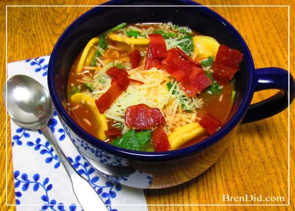 BrenDid Tomato Tortellini Soup