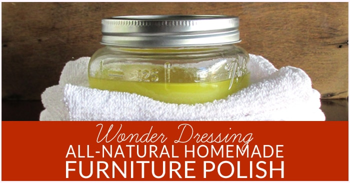 Natural Furniture Cleaner and Polish is easy to make, cost effect and works great -- the best part, it's all natural and non toxic. Try this DIY furniture polish, stainless steel polish, leather cleaner, and label remover in one!