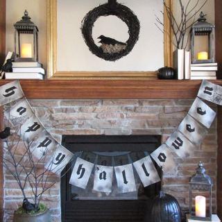 PB Inspired Happy Halloween Banner DIY