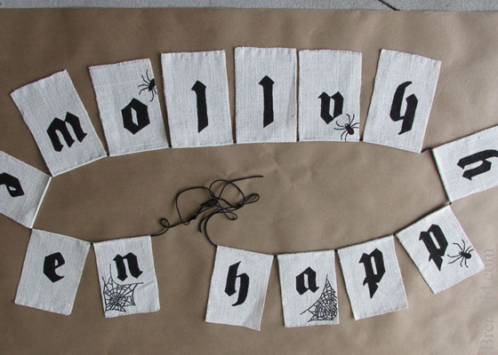 Pottery Barn Inspired Happy Halloween Banner