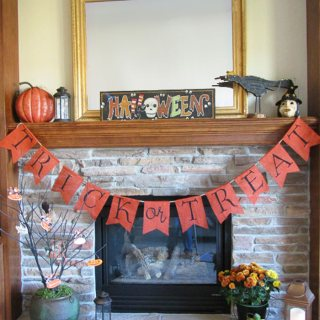 PB Kids Inspired Trick or Treat Halloween Banner DIY