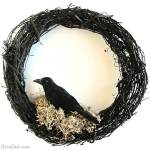 WS Inspired Crow Wreath Halloween Decorations