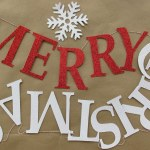 Christmas Decorations: PB Inspired Merry Christmas Banner