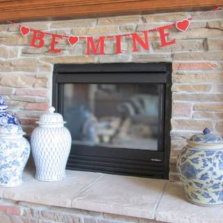Knock Off DIY: PBK Inspired Be Mine Glitter Banner