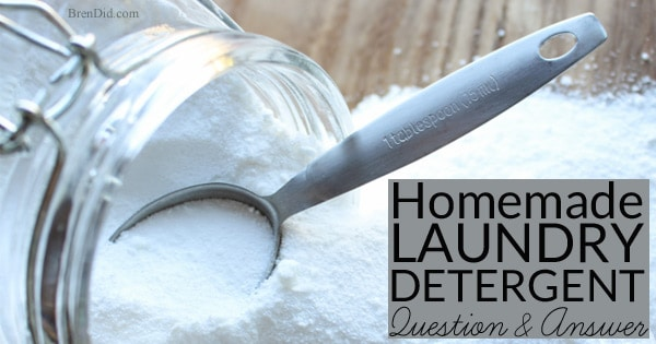 Natural Homemade Laundry Detergent Question and Answer - Natural Homemade Laundry Detergent recipe is a popular posts that raises many questions, comments, and emails. Get answers to your questions about making non-toxic all natural laundry detergent and then try this green DIY recipe.