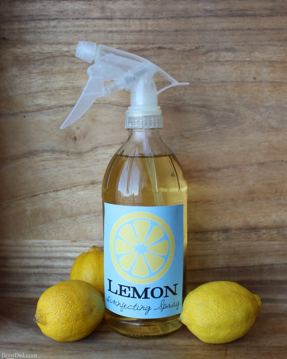 Glass Spray Bottle - Make this two ingredient all-natural disinfecting spray to help protect your family from germs during cold and flu season.
