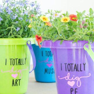 Flower Pails: An Easy & Affordable Teacher Appreciation Gift Idea