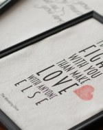 Romantic Movie Quotes Valentine Printables - Create easy and fun Valentine décor with these custom printed canvases featuring romantic movie quotes from Pride and Prejudice, Notting Hill, Bridget Jones Diary, and The Wedding Date. All you need is an inkjet printer for this easy craft. Free printables. Romantic movies. Valentines Day.