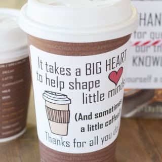 The 5 Minute Coffee Teacher Appreciation Gift
