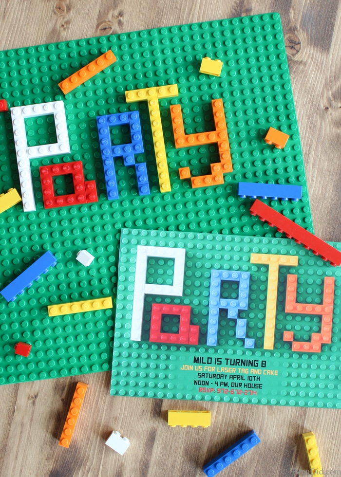 how to make lego party invitations