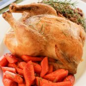 Crazy Easy Roast Chicken in the Slow Cooker - This quick and easy whole chicken recipe will become a staple in your house. It is a healthy alternative to store-bought rotisserie chicken with a wonderful flavor, crispy skin and tender meat.