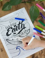 Earth Day Activities: Make Earth Day a day of action! Take 2 simple steps to make your personal care items healthy. Plus free Earth Day coloring page. Adult coloring page for Earth Day. Free printable coloring pages. Earth Day April 22. #madetomatter #ad