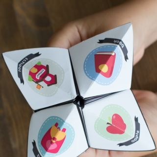 Back to School Paper Fortune Teller for Kids