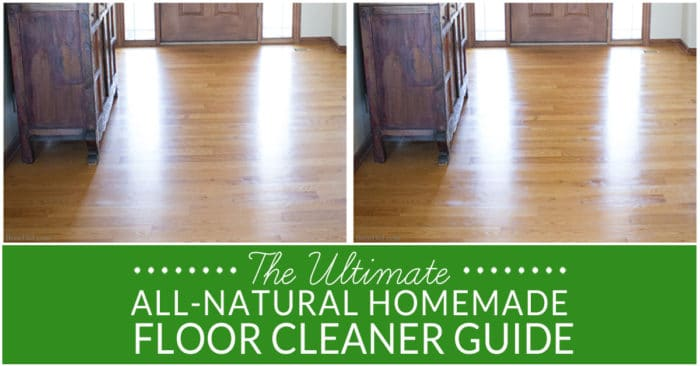 Cleaning floors can be a chore. Keep your hard surfaces in tip top shape with this guide to natural floor cleaning and homemade floor cleaner recipe. All purpose natural floor cleaner for hardwood, laminate, tile and more. Best DIY floor cleaning recipe.