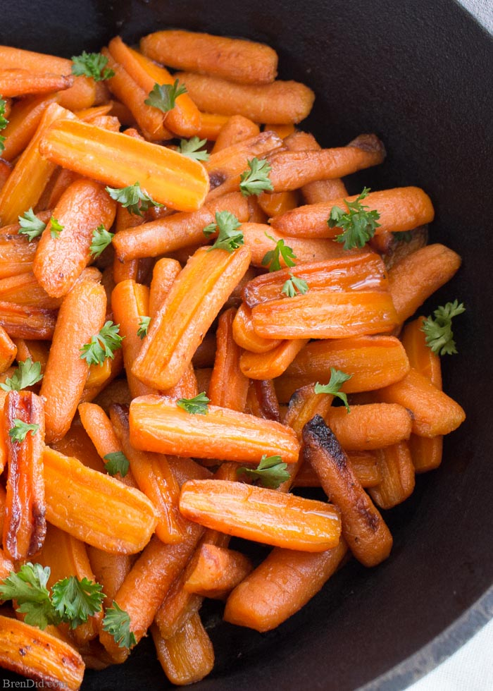Honey Roasted Carrots with Ginger: Simple Side DIsh