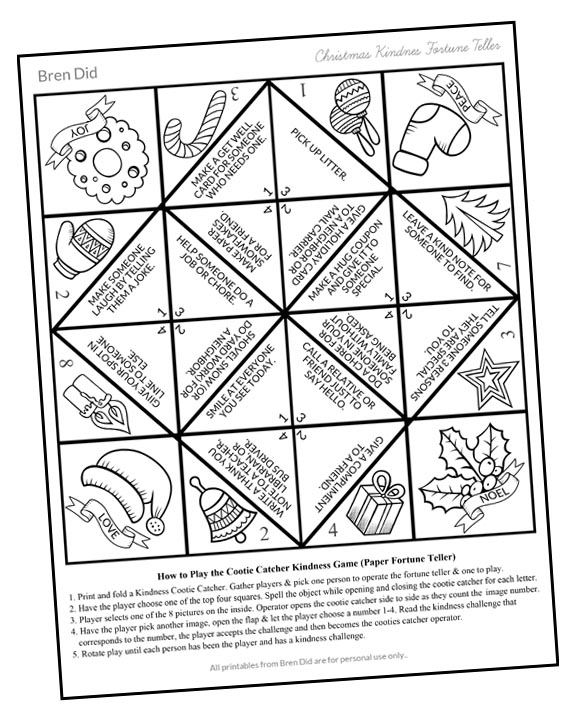 Kids love this free printable Random Acts of Kindness