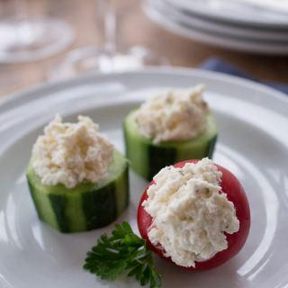 Cucumber & Pepper Cups: 5 Minute Appetizer Recipe