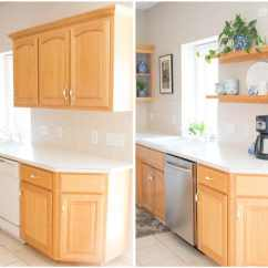 Kitchen Make Over Diy Cabinet Drawers The Amazing 10 Mini Makeover Bren Did Left Right Split