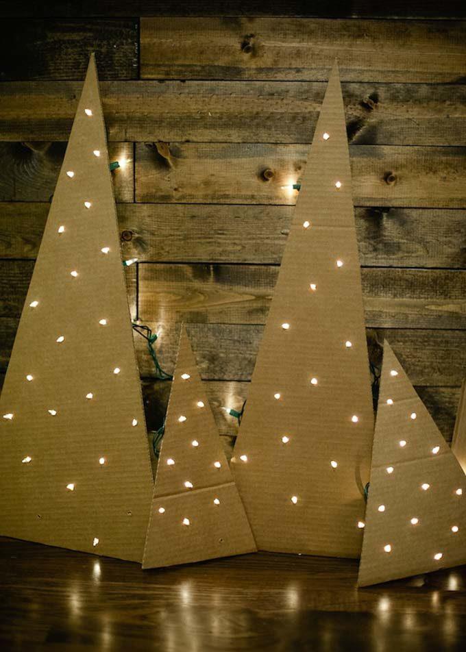 Cardboard Christmas Decorations  Bren Did