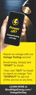 Blue Ridge Power Outage : ridge, power, outage, Ridge, Energy, Ready, Respond, Severe, Weather, Causes, Outages:, Predicted, Weekend, Outage, Reporting:, 1-800-448-2383,, Mobile, Texting