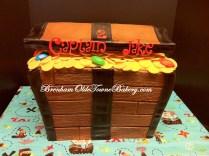 buttercream treasure chest birthday