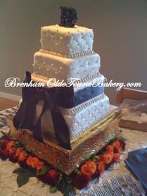 Cream Quilted Wedding Cake