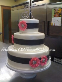 Pink Fantasy Flower Wedding Cake