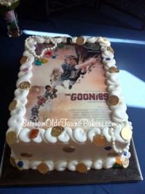 goonies poster grooms cake