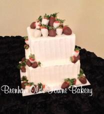 rustic buttercream choc covered berries